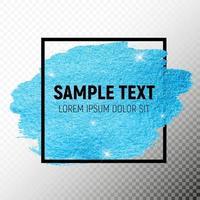 Blue Paint Glittering Textured Art Illustration. Vector Illustration