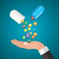 Vitamin and Antioxidant Complex. Vector Illustration