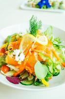 Smoked salmon meat salad photo