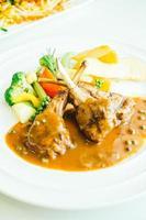 Grilled lamb chops photo