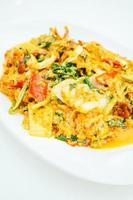 Fried crab curry powder photo