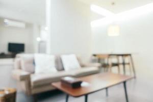 Desenfoque abstracto interior de la sala de estar foto