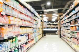 Supermercado de desenfoque abstracto en centro comercial y tienda foto