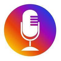 Microphone Icon flat design vector illustration