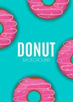 Abstract Donut Background Vector Illustration