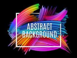 Abstract spectrum brush strokes Textured Art Frame Background. Vector Illustration