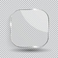 Glass Transparency Frame Vector Illustration