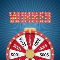 Wheel of Fortune background vector
