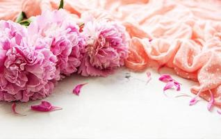 Background with peonies photo