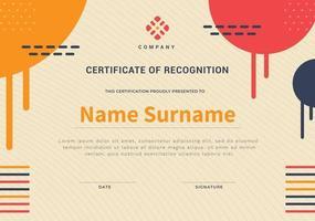 certificate design with modern combine vintage. vector business certificate.
