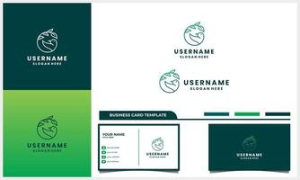 bird with nature life logo design concept with business card template vector