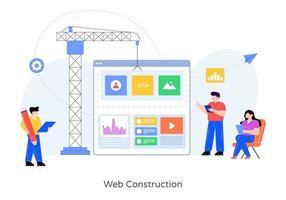 Web Construction Design vector