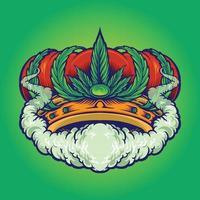 Cannabis Crown Smoke Premium Logo Weed vector