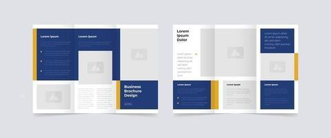modern trifold business brochure design template vector