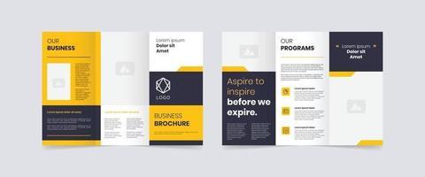 Webmodern trifold business brochure design template vector