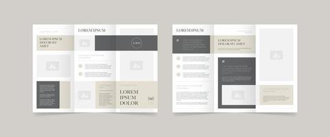 minimal style trifold brochure design vector