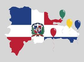 The flag of the Dominican Republic vector