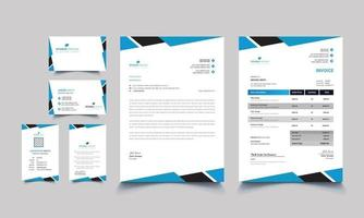 Creative business office stationery set design vector