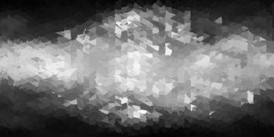 patrón poligonal de vector gris claro.
