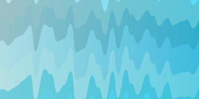 plantilla de vector azul claro con líneas torcidas. Ilustración abstracta con arcos degradados. plantilla para teléfonos móviles.