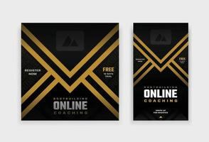 fitness online coaching social media post and story design template vector