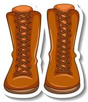 A sticker template with women's boots isolated vector