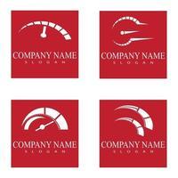 Set speed Auto car Logo Template vector illustration icon design