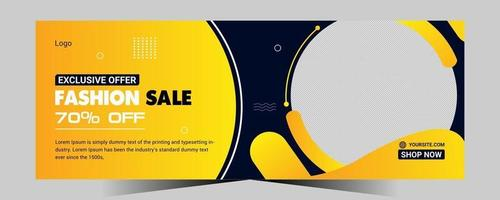Shopping social media post and Fashion Online Sale banner template design vector