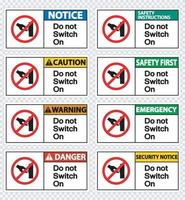 Set do not touch sign label on transparent background vector