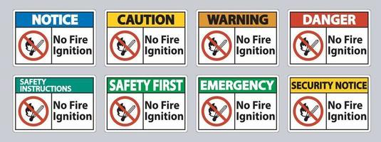 No Fire Ignition Symbol Sign On White Background vector