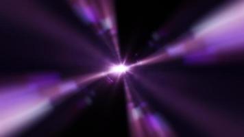 Purple Star Optical Flare Light Streaks video