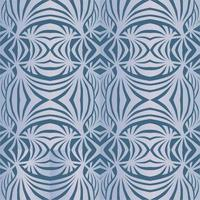 Abstract floral ornament in retro art-deco style over dark blue background Oriental  flourish  texture. Abstract geometric decorative oranemental pattern vector