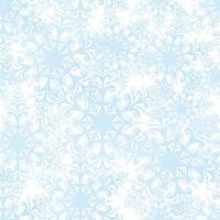 Snow pattern. Christmas seamless background. Winter holiday nature decor. Snowy wallpaper. Ornamental snowflakes vector