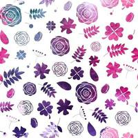 Colored Abstract Background Seamless Pattern. Vector Illustration