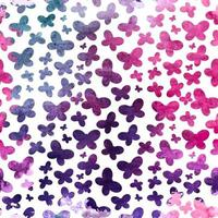 Colored Abstract Hand Painted Watercolor Background Seamless Pattern. Vector Illustration