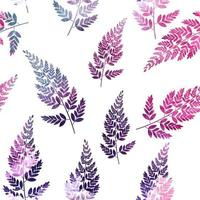Abstract Natural Spring Seamless Pattern Background with Leaves. Vector Illustration