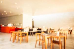 Resumen borroso y restaurante buffet desenfocado en hotel resort foto