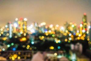 Desenfoque abstracto del horizonte de la ciudad de Bangkok foto
