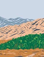 San Bernardino Mountains Mojave Desert and Northwestern Colorado Desert Within Sand to Snow National Monument California United States WPA Poster Art vector