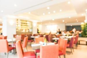 Abstract blur restaurant and cafe interior photo