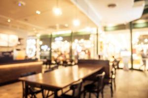 Abstract blur and defocused breakfast buffet at hotel restaurant interior photo