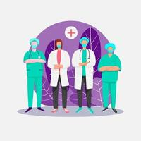 Surgery doctors illustration concept vector