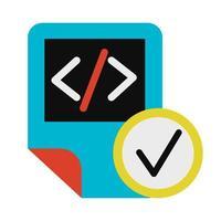 Coding script file symbol glyph vector illustration