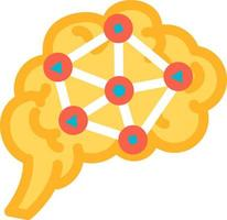 Function analysis and logic of brain icon vector