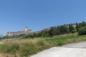 Landscape of assisi seen from outside the country photo