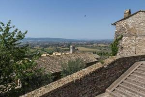 Landscape seen from the town of assisi photo
