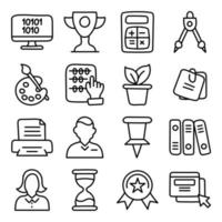 Pack of Education Technology Linear Icons vector