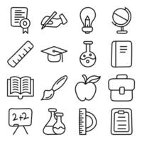 Pack of Science Linear Icons vector