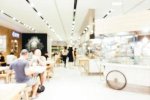 Abstract blur and defocused coffee shop cafe and restaurant interior for background photo