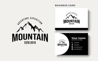 Vintage Mountain Adventure Logo Design Inspiration vector